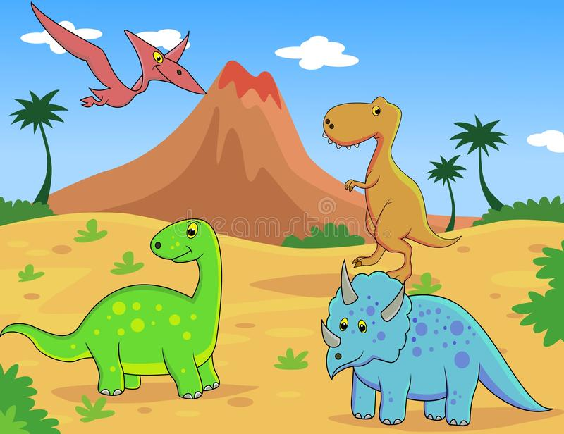 Download Dinosaur cartoon stock vector. Image of childhood, cute - 22747201