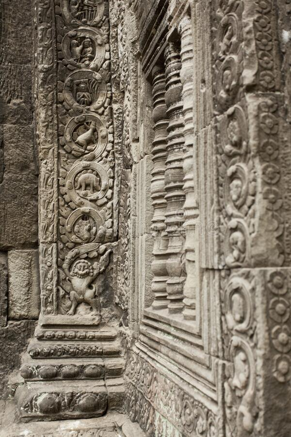 Free Dinosaur Carving In Angkor Wat Temple Complex Royalty Free Stock Photos - 169883728