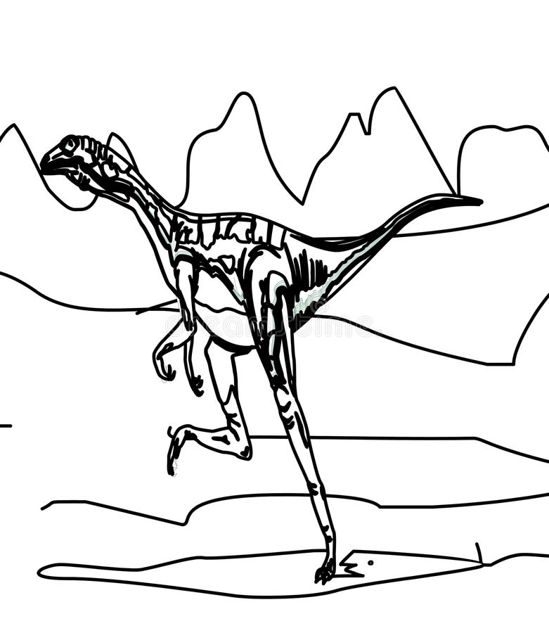 Dinosaur Coloring Page Stock Illustration Illustration Of Color 87361722