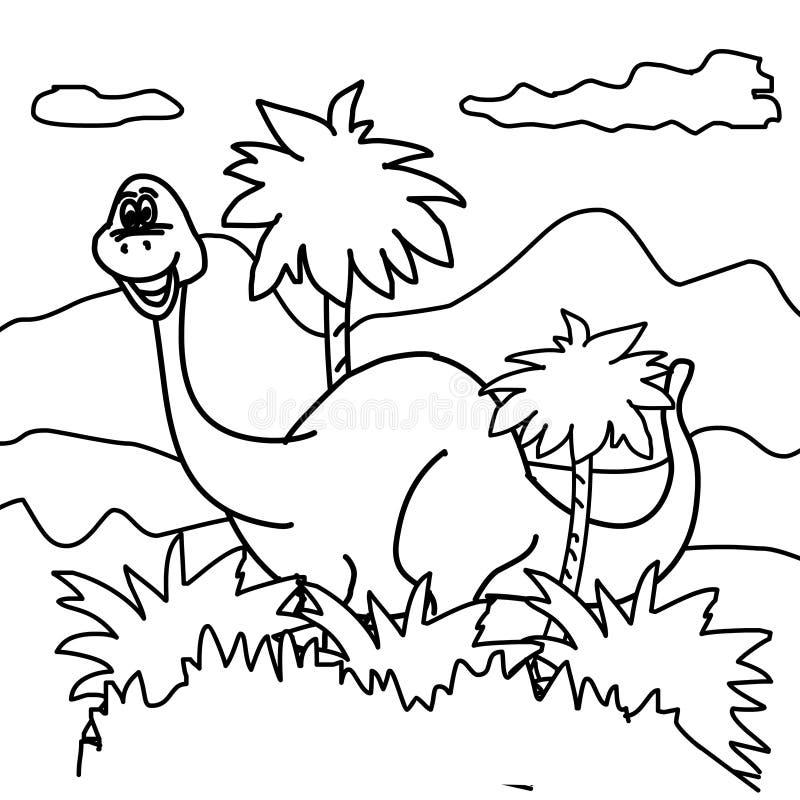 Dinosaur Coloring Page Stock Illustration Illustration Of