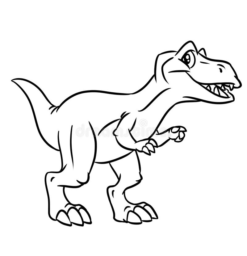 Dinosaur coloring pages vector illustration