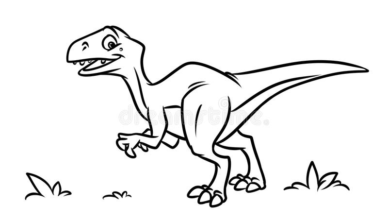 Dinosaurs Coloring Pages Cartoon Illustration Stock
