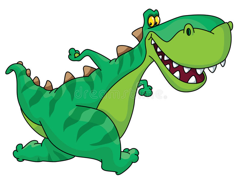 Dinosaur courant illustration de vecteur