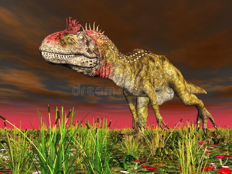 Dinosaur Cryolophosaurus vector illustration