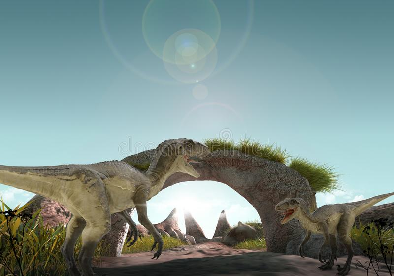 dinosaur 3d stock illustrationer