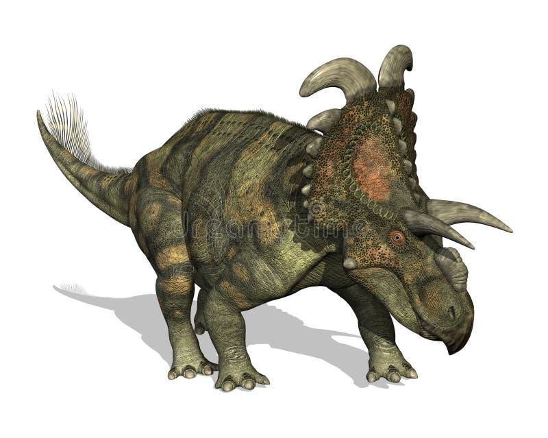 Dinosaur d'Albertaceratops illustration stock