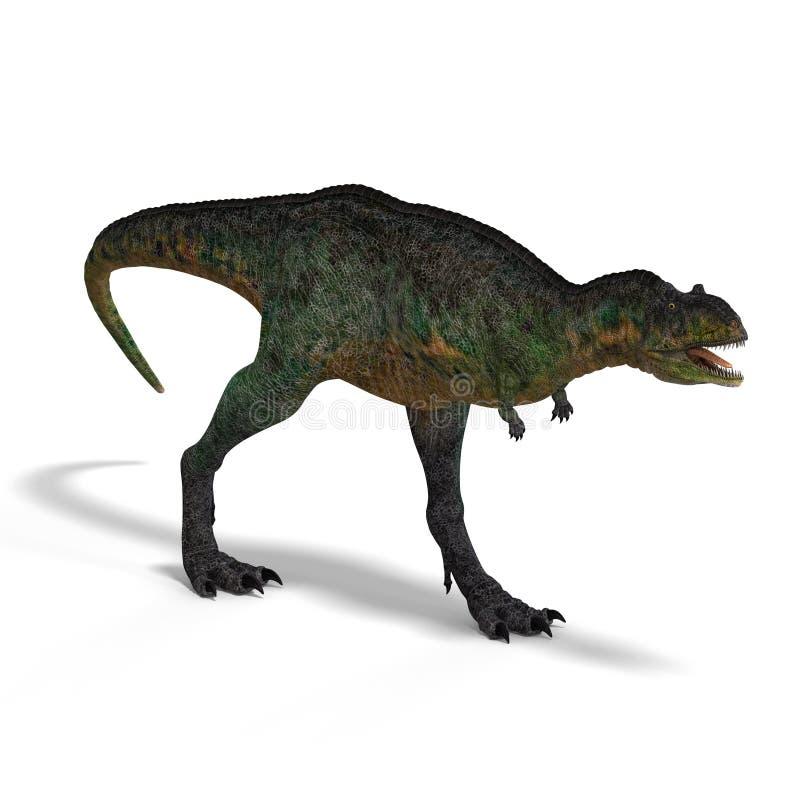 dinosaur d'aucasaurus illustration libre de droits