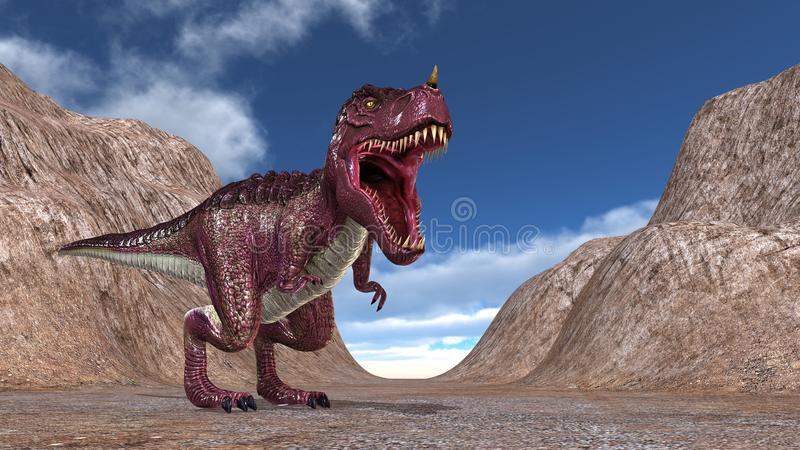 Dinosaur. 3D CG rendering of a dinosaur royalty free stock photography