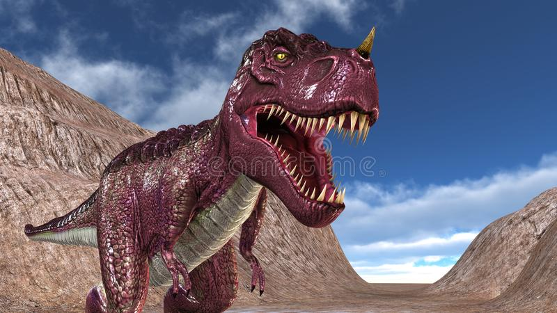 Dinosaur. 3D CG rendering of a dinosaur royalty free stock images