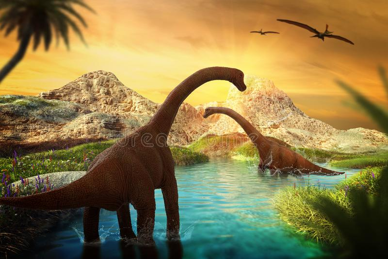 Dinosaur 3D odpłaca się royalty ilustracja