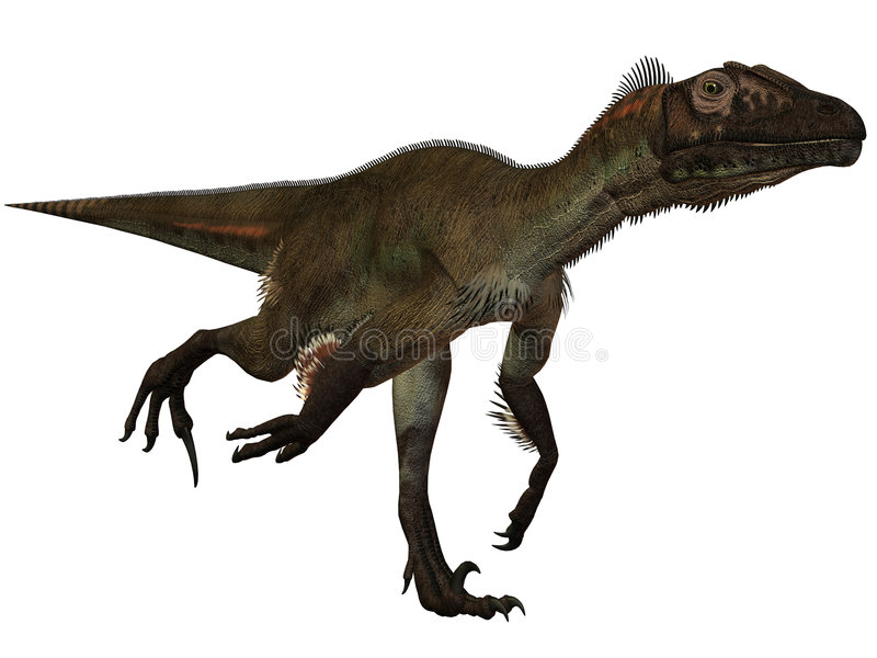 Dinosaur d'Utahraptor ostrommayorum-3D illustration de vecteur