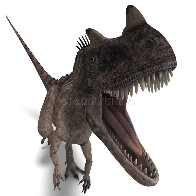 dinosaur de ceratosaurus illustration de vecteur