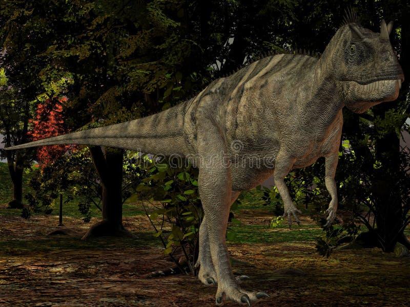 Dinosaur de Ceratosaurus nasicornis-3D illustration de vecteur