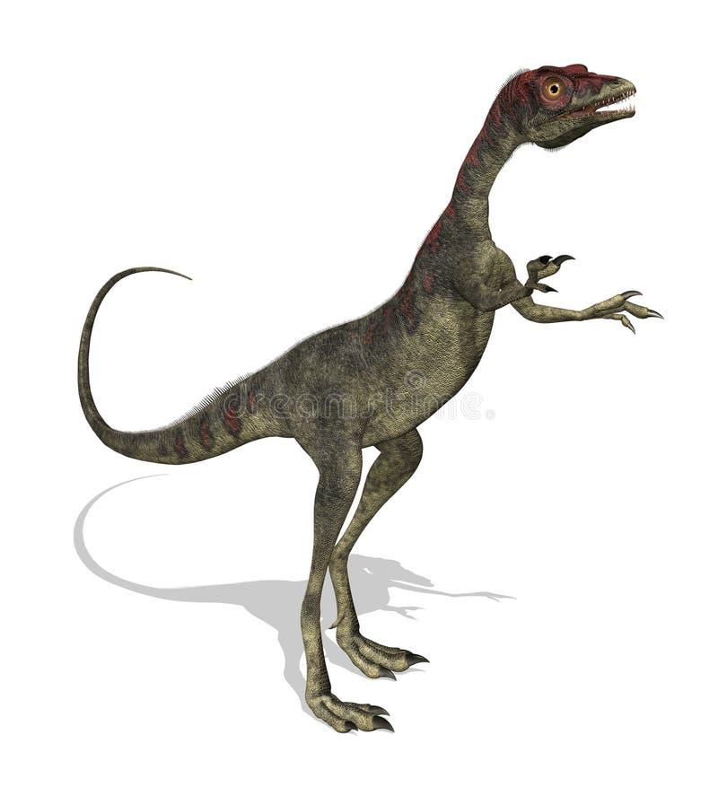 Dinosaur de Compsognathus illustration libre de droits