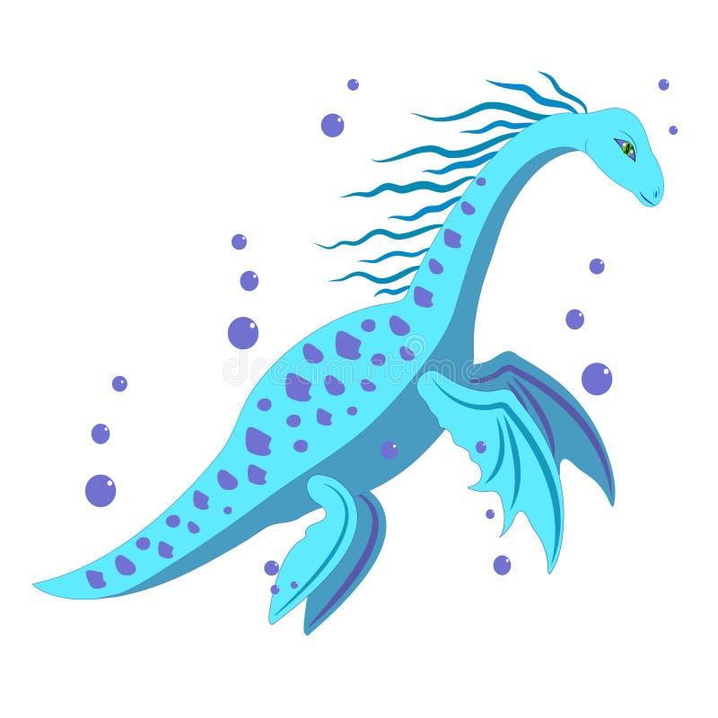 Dinosaur de l'eau. illustration libre de droits