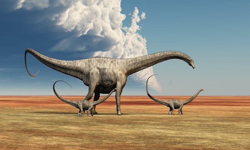 Dinosaur de mère illustration stock