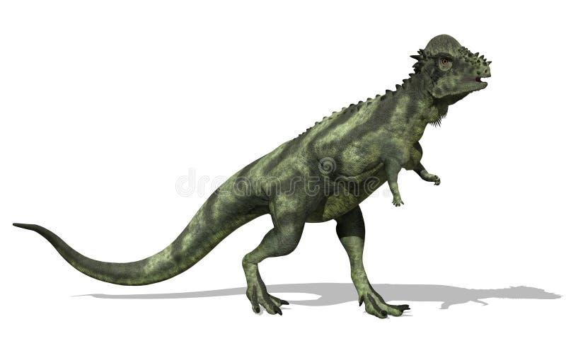Dinosaur de Pachycephalosaurus illustration stock