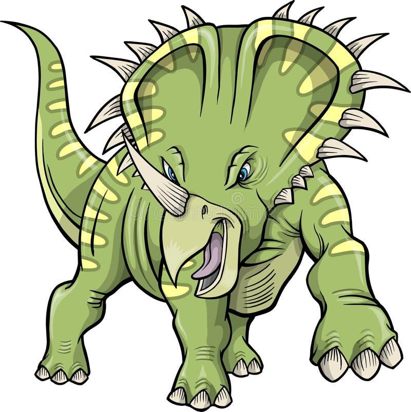 Dinosaur de Triceratops illustration stock