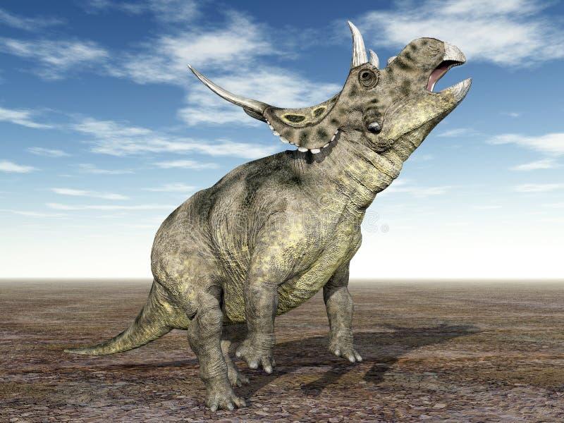 Dinosaur Diabloceratops illustration stock