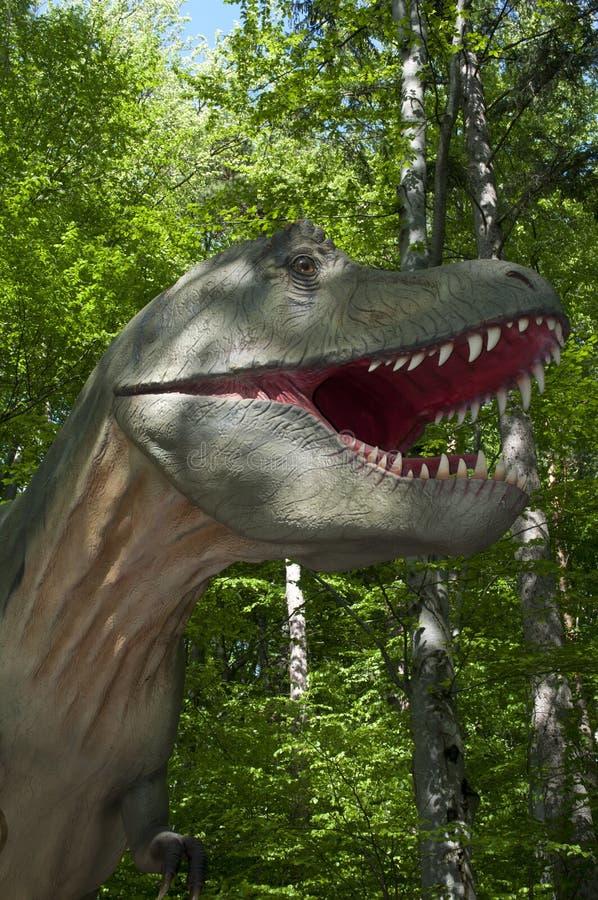 Dinosaur, drzewo, Tyrannosaurus, las zdjęcie stock
