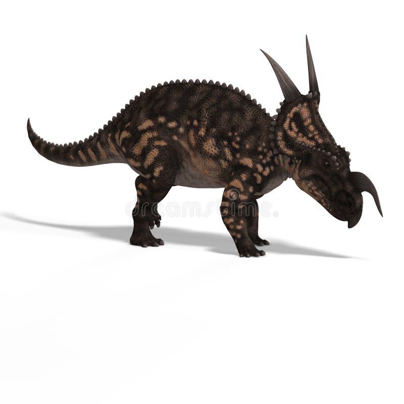 Dinosaur Einiosaurus vector illustration