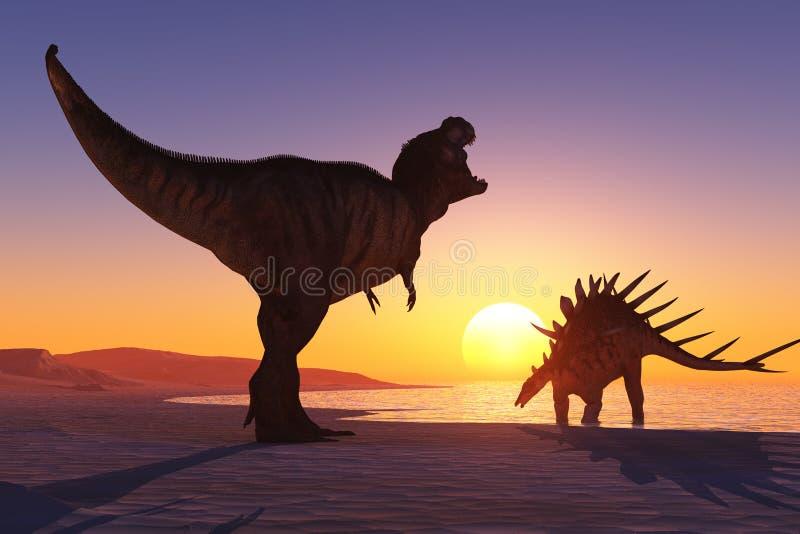 Download The dinosaur stock illustration. Image of render, fear - 42243082