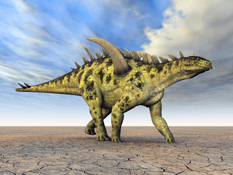 Download Dinosaur Gigantspinosaurus stock illustration. Image of monstrosities - 26561234