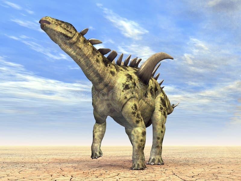 Dinosaur Gigantspinosaurus Royalty Free Stock Photo
