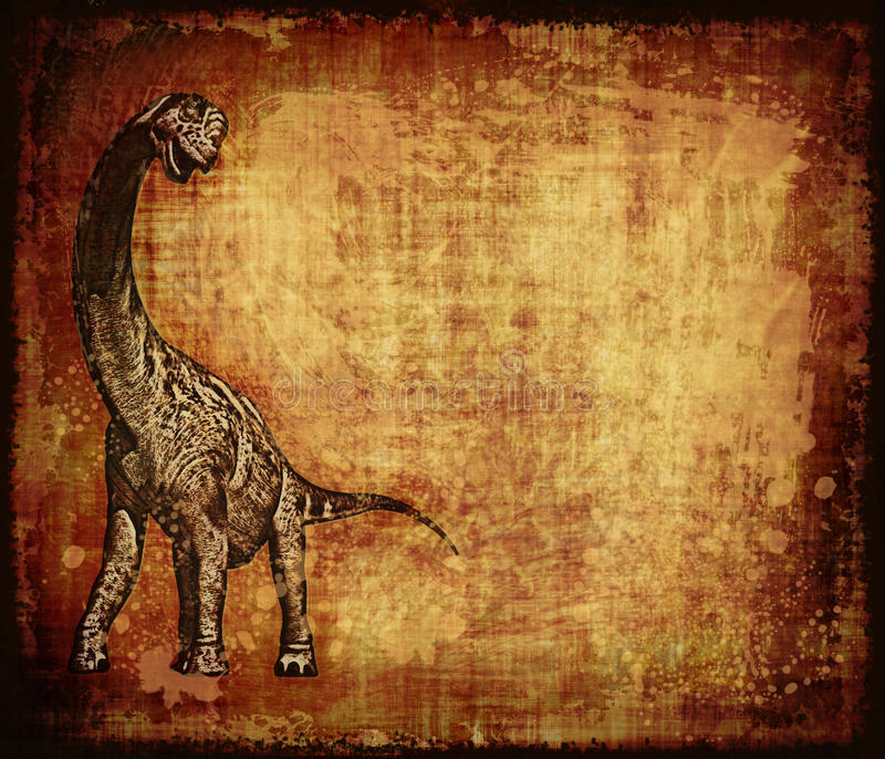 Download Dinosaur Grunge Parchment stock illustration. Image of rendering - 25781804