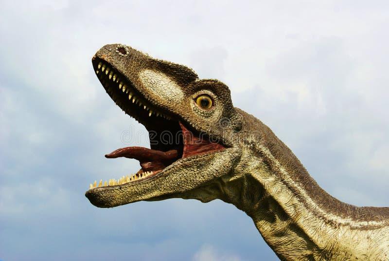Dinosaur. Head of a large dinosaur stock photos
