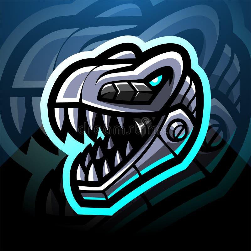 Free Dinosaur Head Robot Esport Mascot Logo Design Royalty Free Stock Photo - 184537895