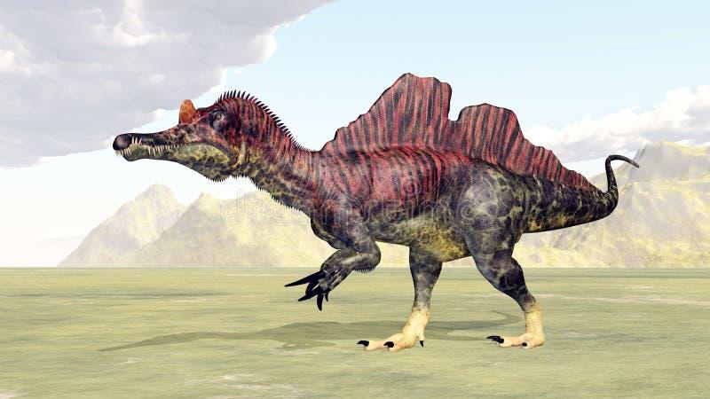 Dinosaur Ichthyovenator royalty ilustracja