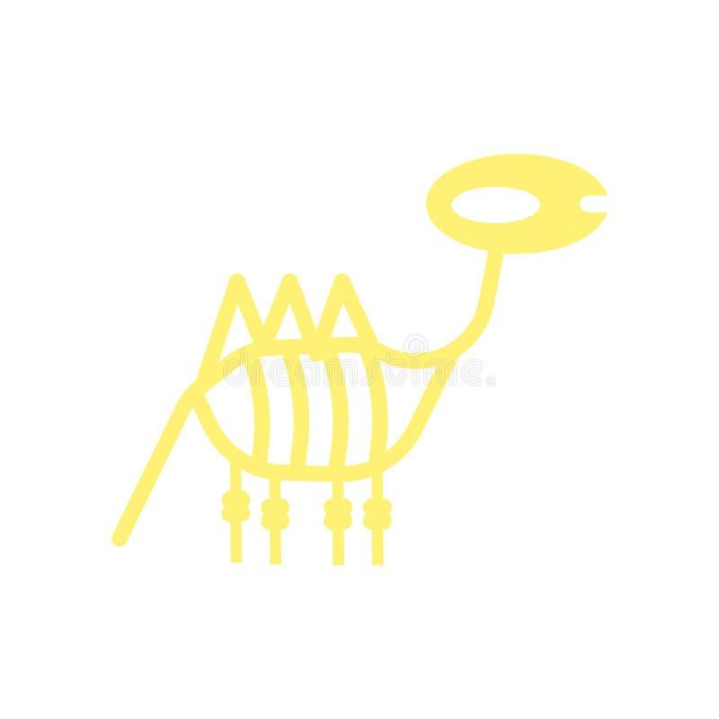 Dinosaur icon vector isolated on white background, Dinosaur sign , historical stone age symbols stock illustration