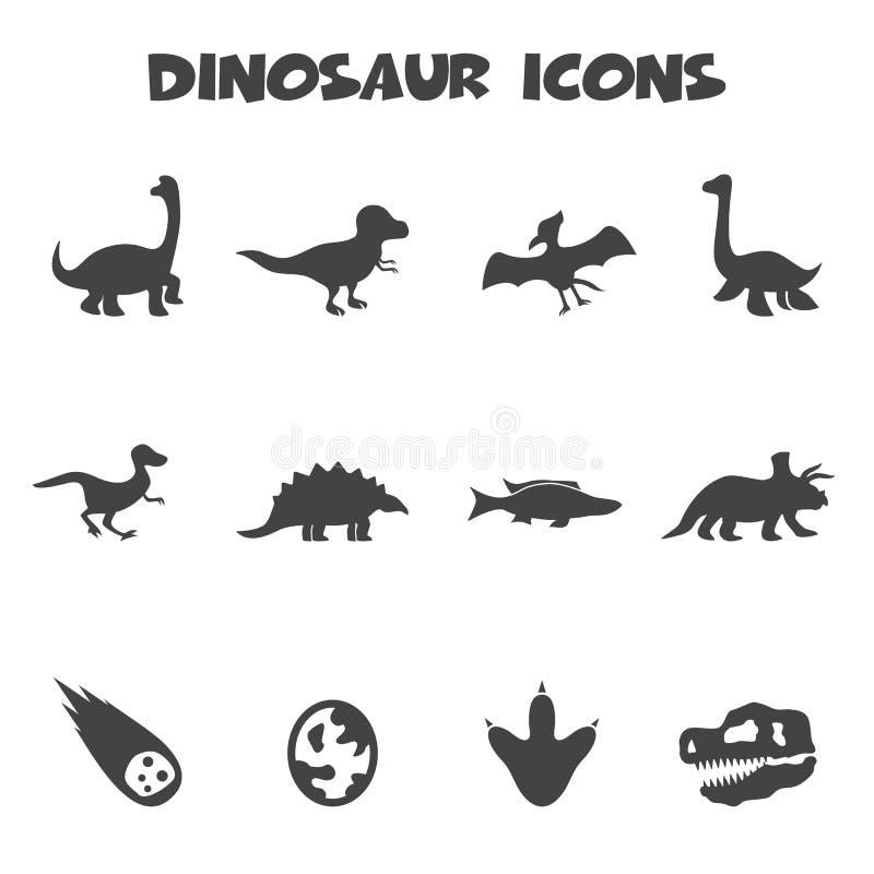Dinosaur ikony ilustracji