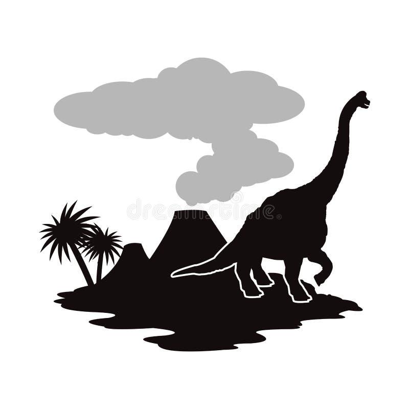 Dinosaur ikony projekt ilustracji