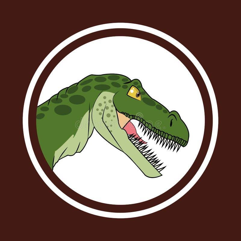 Dinosaur ikony projekt ilustracja wektor