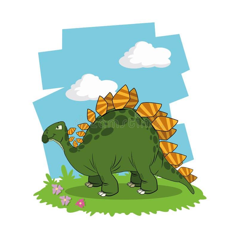 Dinosaur ikony projekt royalty ilustracja