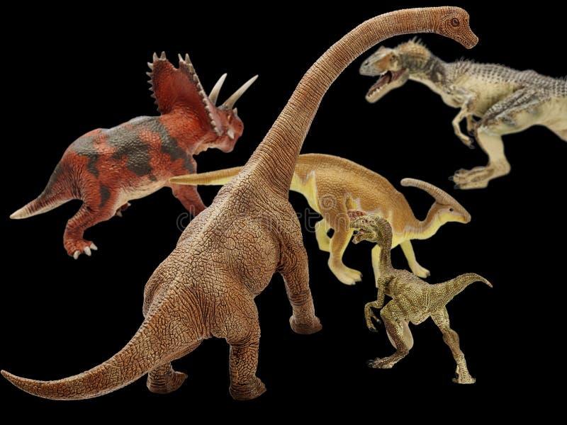 Dinosaur. Isolated dinosaur in black background stock image