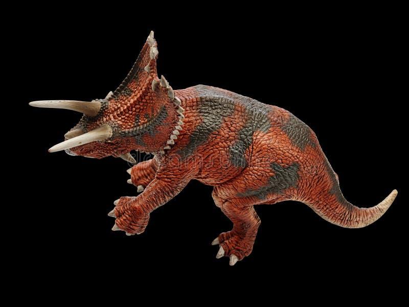 Dinosaur. Isolated dinosaur in black background stock photos