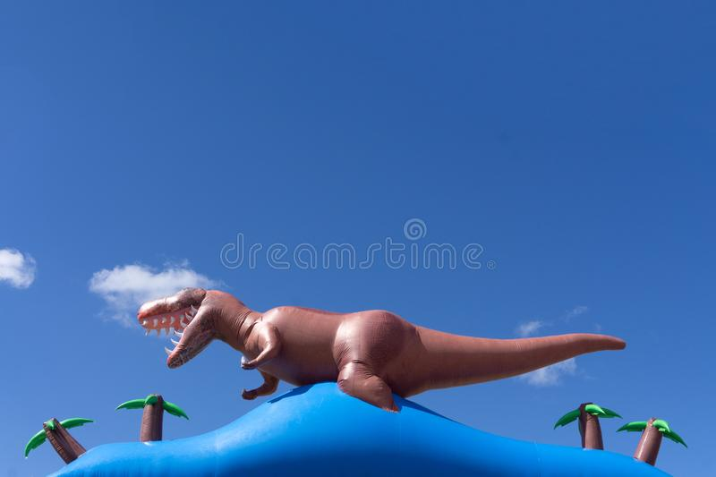 Dinosaur in the jungle background 3D render. Dinosaur in the jungle background. 3D render stock image