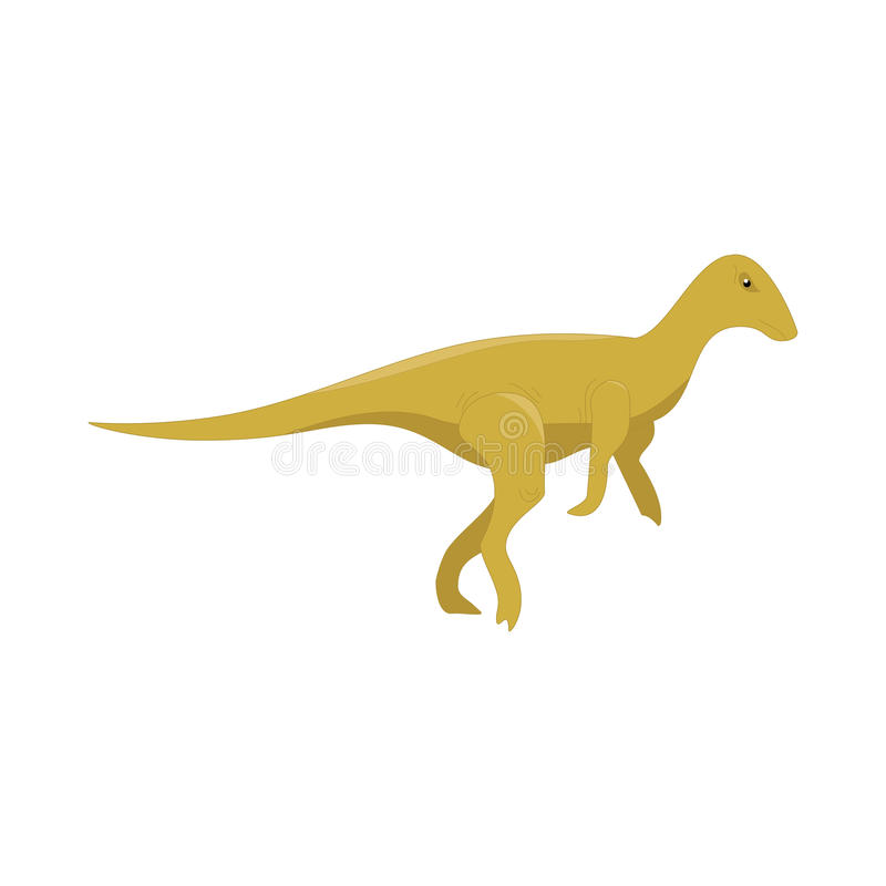 Dinosaur kreskówki śliczny śmieszny potwór Kreskówka dinosaurów charakteru zwierzę Komiczni dinosaurów dzieciaki dla gry app Wekt royalty ilustracja