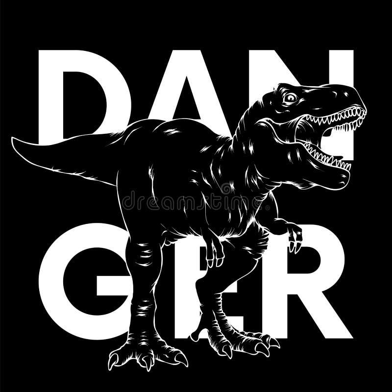 dinosaur ljus vektor f?r caterpillarillustrationpome Tecknad filmreptil tyrannosaur Tryck på kläder som drar för vykort hipster vektor illustrationer