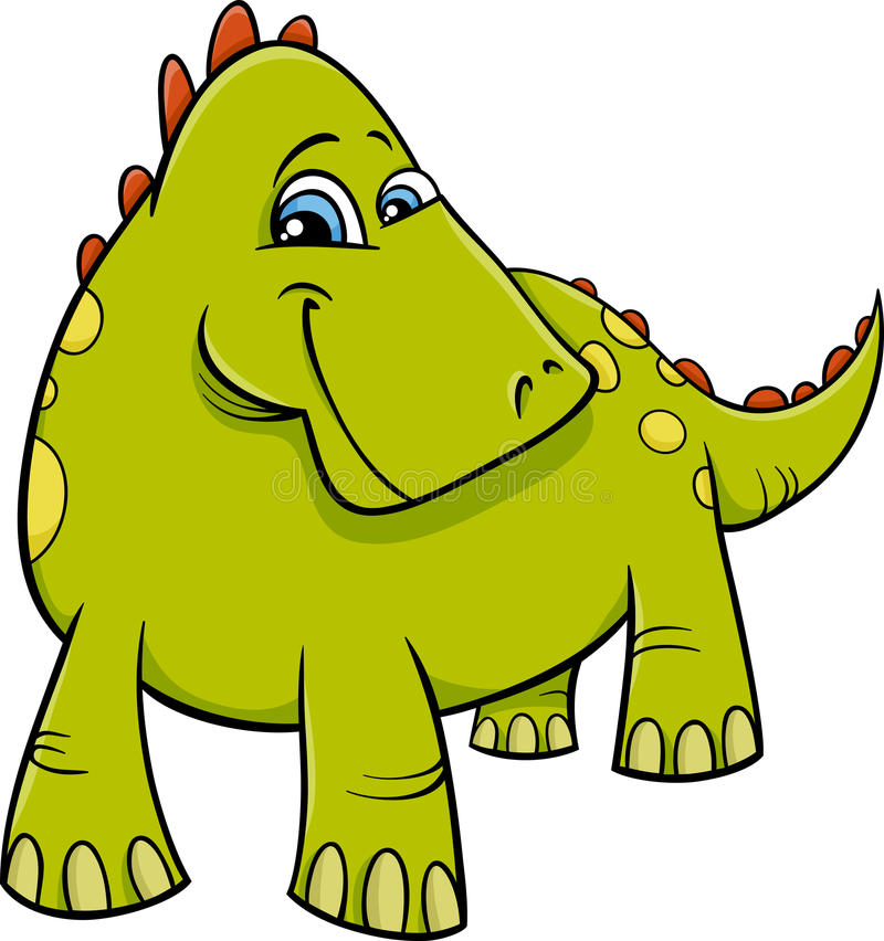 Dinosaur lub smok kreskówka ilustracja wektor