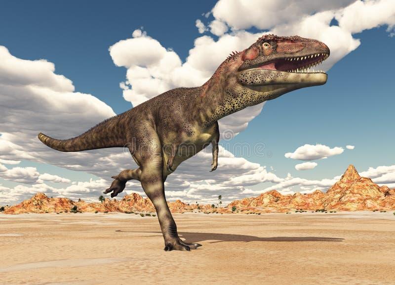 Download Dinosaur Mapusaurus stock illustration. Image of wilderness - 83700232