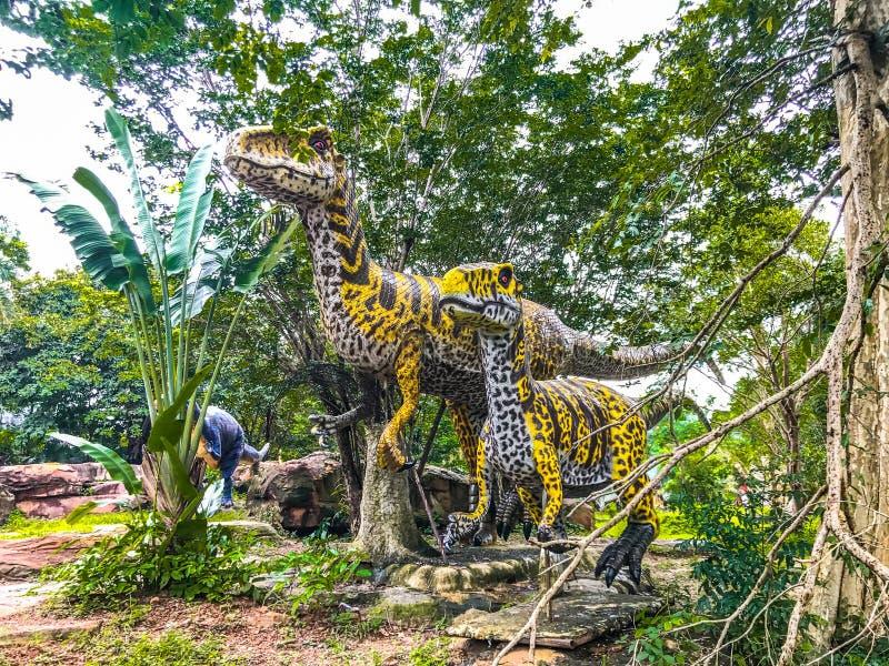 Dinosaur model stock photo
