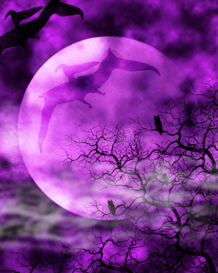 Free Dinosaur Moon Background Royalty Free Stock Photography - 7196907
