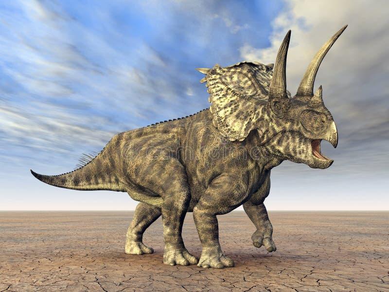 Dinosaur Pentaceratops illustration stock