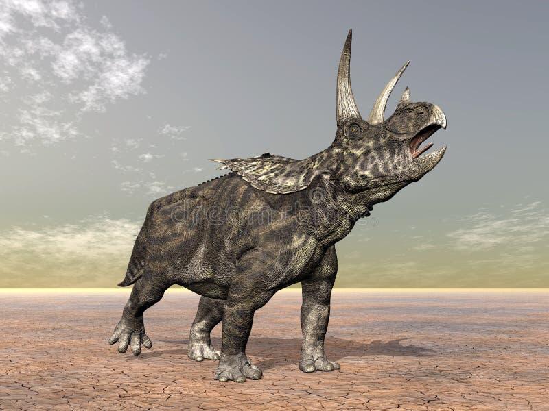 Dinosaur Pentaceratops illustration de vecteur