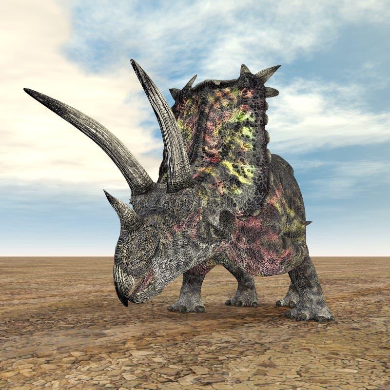 Dinosaur Pentaceratops royaltyfri illustrationer