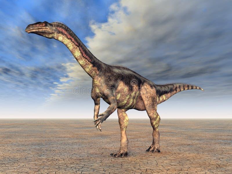 Dinosaur Plateosaurus illustration stock